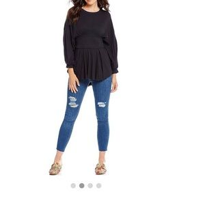 Free people Reagan distressed button front jean